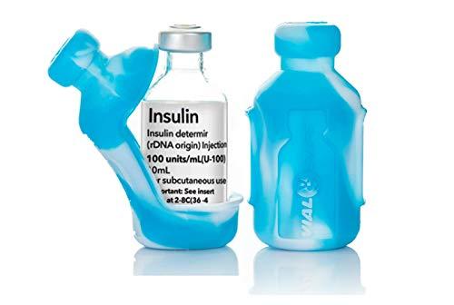 VIAL SAFE Insulin Bottle Protector Case for Diabetes, Never Risk Breaking Your Insulin Vial, Reusable, Flexible Silicone…