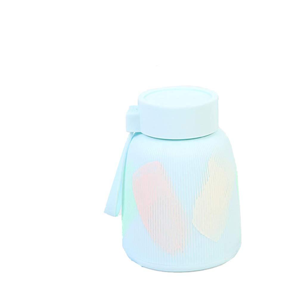 ChuangYing Personalidad de niña Mini Agua Taza Doble Vidrio Capa Anti-Caliente Vidrio Doble con Taza Mango Pintado 641374