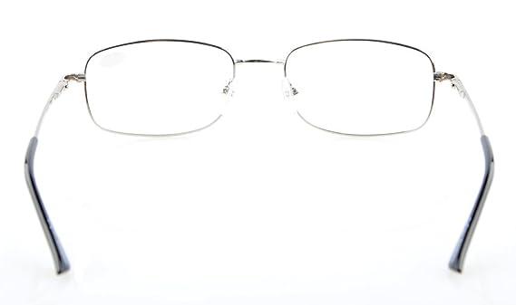 Eyekepper Ponte-flex memoria di titanio delle donne degli uomini della molla Cerniere occhiali da lettura Silver +4.0 aQ85T