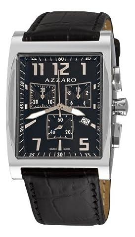 Azzaro Men's AZ1250.12BB.009 Chronograph Black Dial and Strap Watch (Azzaro Men Quartz)