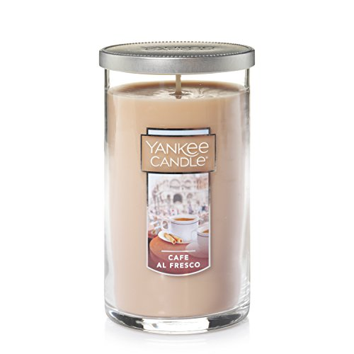 Yankee Candle Medium Perfect Pillar Candle , Café Al Fresco