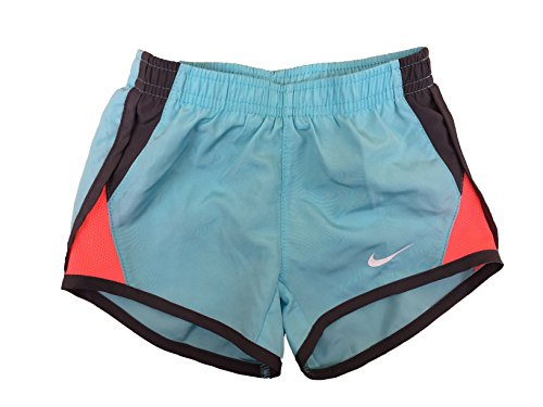 NIKE Girl`s Dry Tempo Shorts (Bleached Aqua (262139-U5L)/Pink/White/Wolf Grey, 3T Toddler) - Nike Fashion Shorts