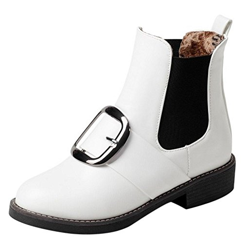 RAZAMAZA Women Casual Boots Slip On White AsicWv5