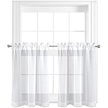 Amazon Com 36 Inch Long Tier Curtains For Kitchen Window