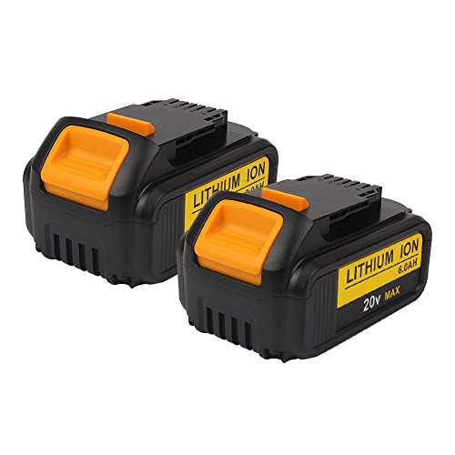20V MAX 6.0Ah Li-ion DCB200 Battery Replacement for Dewalt DCB204 DCB205 DCB205-2 DCB180 DCD985B DCD771C2 DCS355D1 DCD790B Cordless power tools(2 Packs) by VANON