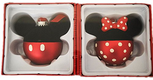 Free Disney Minnie and Mickey Mouse Glass Christmas Ornament