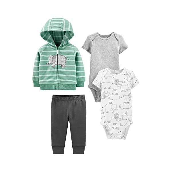 Simple Joys by Carter's Baby Boys' 4-Piece Jacket, Pant, and Bodysuit...