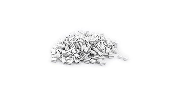 Amazon.com: 250 piezas de aluminio de reloj de Arena de la Manga DE 3 mm x 9 mm de Cable de Acero DE 2 mm: Industrial & Scientific