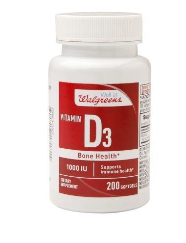 Walgreens Vitamin D3 Softgels 200 count