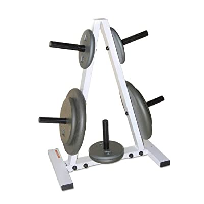 CAP Barbell Standard Plate Rack, Black and White, 1""