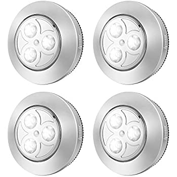 Ipow 4 Pack Upgraded Cordless Tap Lights Sticky Led