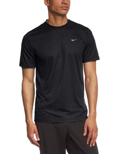 Men's Nike Challenger SS T Shirt Black/Reflective Silver Size XX-Large