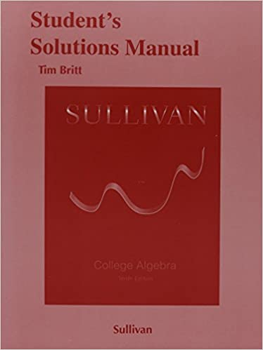 Students solutions manual for college algebra michael sullivan students solutions manual for college algebra michael sullivan 9780321979582 amazon books fandeluxe Images