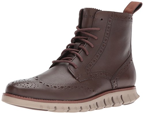 Cole Haan Para Hombre Zerogrand Wingtip Fashion Bota Chestnut Leather / Cobblestone