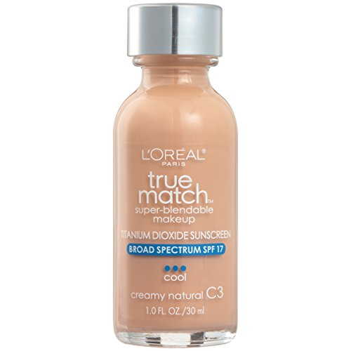 L'Oreal Paris Makeup True Match Super-Blendable Liquid Foundation, Creamy Natural C3, 1 Fl Oz,1 Count