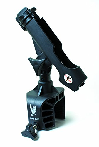 Eagle Claw AABRH Clamp-On Aluminum Boat Rod Holder, Black Finish