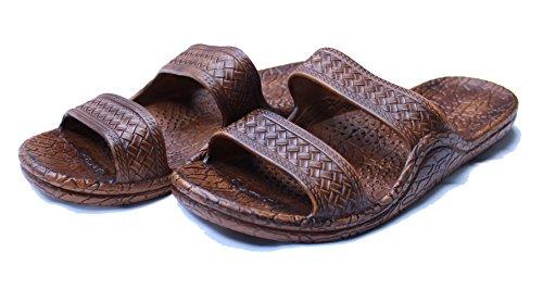 Kali Footwear Women's Jesus Hawaii Open Toe Double Strap Hawaiian Sandals Simple (Chestnut, 7 B(M) (Brown Woven Strap)