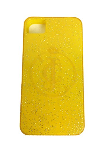 (Juicy Couture iphone 4/4s Case in Yellow Jelly Glitter)