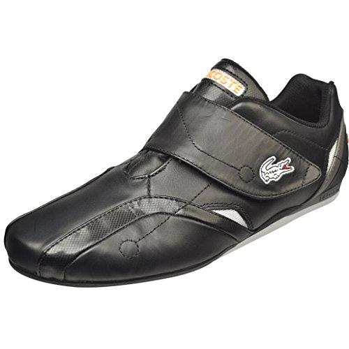 Lacoste Men's Protect M Fashion Sneaker,Black/Orange,10.5 M US