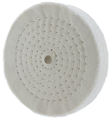 Drixet Rigid 6 Inch Extra Thick Cotton Treated Spiral Sewn Buffing/Polishing Wheel with a 1/2