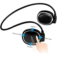 NIUIEME Bluetooth Wireless Headphone,Bluetooth 4.1 Sweatproof Sport Headphone with Mic for Running Cycling Gym Compatible with iphone ios and android mobile phones