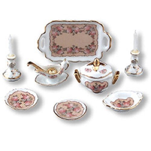 Reutter Porcelain Miniature Classic Rose Dinner
