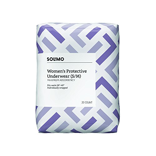Amazon Brand - Solimo Incontinence Underwear for Women, Maximum Absorbency, Small/Medium, 60 Count by Solimo (Image #3)