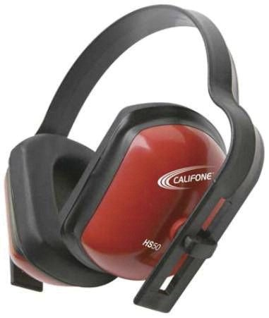 - Califone HS50 Hearing Safe Hearing Protector Ear Muff, Bright Red Safety Color, 28db Noise Reduction