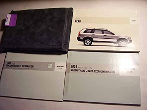 2005 volvo xc90 owners manual guide book volvo amazon com books rh amazon com 2007 Volvo XC90 2005 Volvo XC90 Review