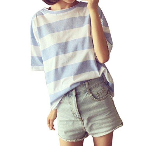 証人先生腹花千束 ボーダー 丸首 Tシャツ レディース 半袖 ゆったり トップス 可愛い 韓国風 スポーツ ダンス用 お揃い ブラウス カットソー 人気 6色 M-2XL