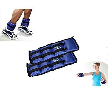 Pack de 2 pesos desde 1,5 KG hasta 4 KG para los tobillos y muñecas - 2 kg: Amazon.es: Deportes y aire libre