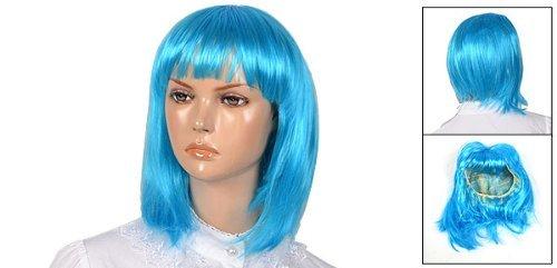 Amazon.com: Mujer Cian Mujer fibra sintética de la sacudida del cortocircuito del Estilo Straigh peluca de Pelo: Health & Personal Care