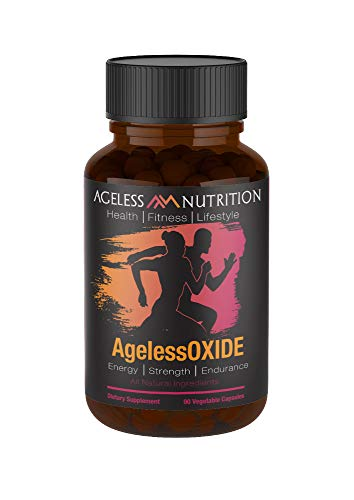 AgelessOXIDE – Nitric Oxide Supplement with L Arginine, Citrulline Malate, AAKG and Beet Root – All-Natural Nitric Booster for Energy, Strength and Endurance – 90 Veggie Capsules.