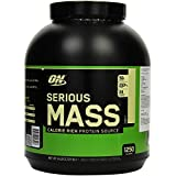 OPTIMUM NUTRITION Serious Mass High Calorie Weight Gain/Muscle Gain Protein Powder, Vanilla - 2.72 kg