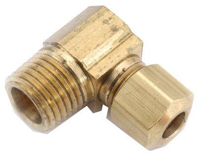 Anderson Metals 750069-0606 Elbow, Brass, 90-Degree, Compression, Male, 3/8 x 3/8-In. - Quantity 10