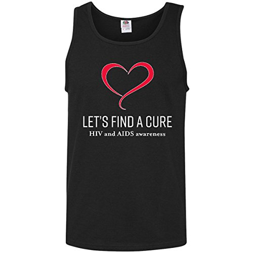 inktastic - Lets Find a Cure- HIV and AIDS Men's Tank Top Small Black 303b3 -