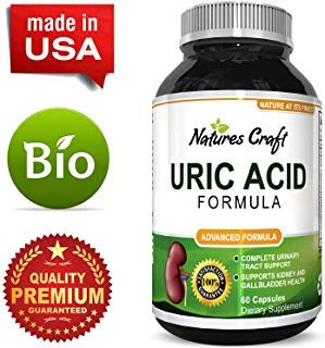 Uric Acid Support Supplement Antioxidant Detox Cleanse Blend to Metabolize Purine Levels for Healthy Kidneys & Joints Reduce Joint Pain & Soreness Naturally with Tart Cherry Milk Thistle & Turmeric (Acid Uric Crystals)