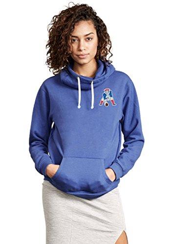 New England Patriots Sunday Cowl Neck Women's Hoodie X-Small