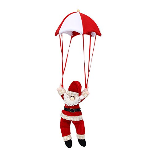Mochiglory Cute Santa Claus Snowman Parachute Reindeer Xmas Doll Gift Tree Hanging Ornament Decor (Ornament Santa Parachute)