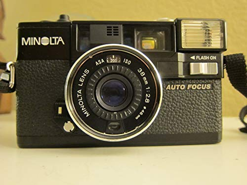 - Minolta Hi-Matic AF2 Auto Focus 35mm Film Flash Camera w/ Minolta Lens 38mm 1:2.8 (46mm)