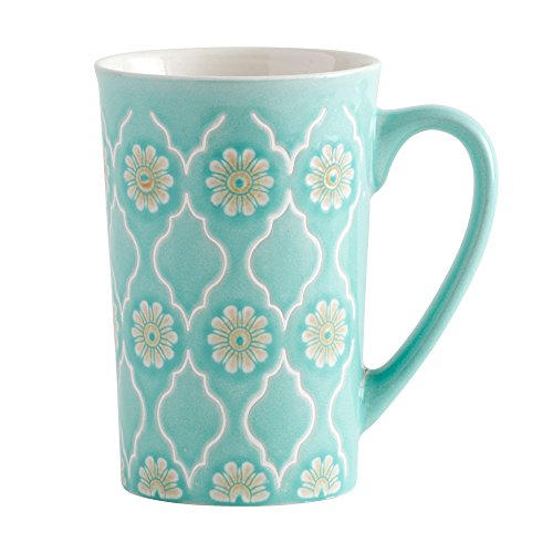 Pfaltzgraff Antigua Latte Large Coffee Mug 16 Ounce Mint Green