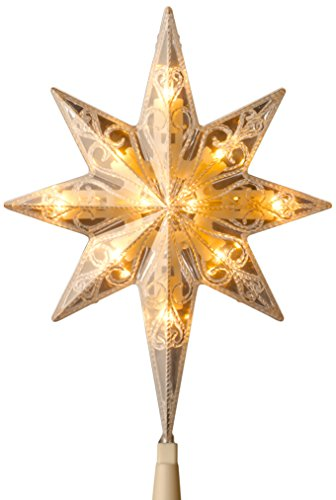 National Tree 11 Inch Bethlehem Star Tree Topper with 10 Low Voltage Dual Color LED Bulbs (TA21-11L-1) (Lit Star Tree Topper)