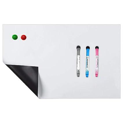 TAKEMORE7 pizarra blanca magnética para frigorífico, resistente a las manchas, resistente al agua, pizarra blanca, bloc de notas magnéticas, pegatinas ...