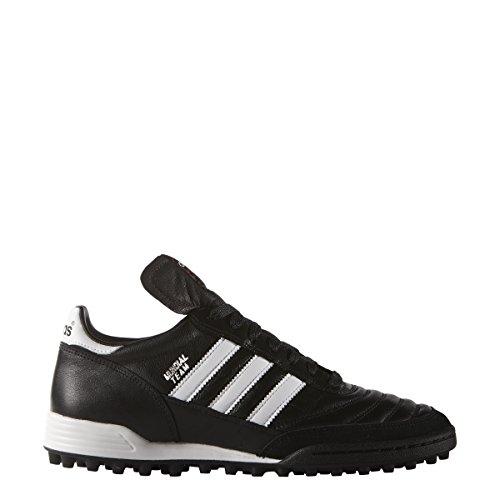 Adidas Performance Mundial Tacos de fútbol para césped, Negro/Blanco, 10 D(M) US