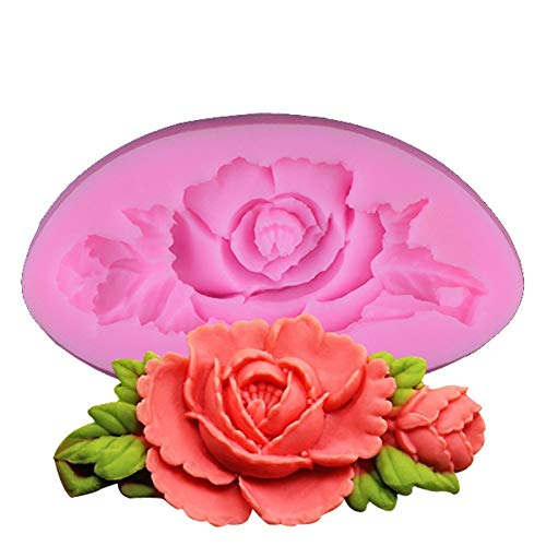 1 piece 3D Rose Flower Silicone Mold For CakeChocolateCookiesIce Decorating Tools Bakeware Silicone Moulds For Baking DIY Soap -