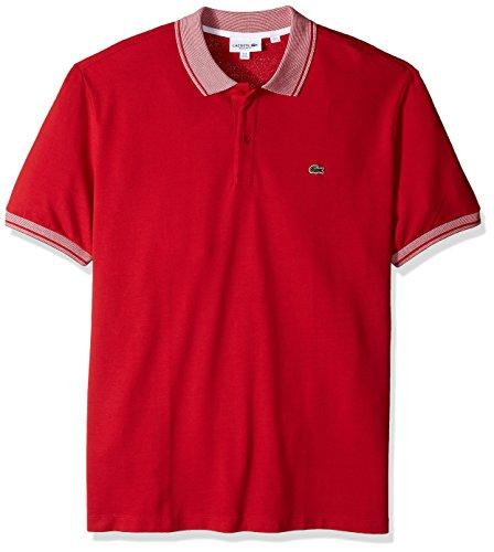 Lacoste Mens Short Pique Collar/Sleeve Contrast Reg Fit Polo, PH3938