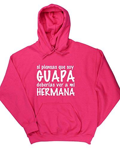 HippoWarehouse Si Piensas que soy guapa Deberías ver a mi Hermana jersey sudadera con capucha suéter derportiva unisex: Amazon.es: Ropa y accesorios