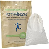 SMELLEZE Reusable Dead Animal Smell Removal Deodorizer Pouch: Rid Decay Odor Without Scents in 150 Sq. Ft.