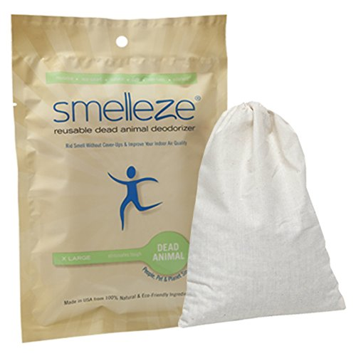 Fresh Breath Pouches (SMELLEZE Reusable Dead Animal Smell Removal Deodorizer Pouch: Rid Decay Odor Without Scents in 150 Sq. Ft.)