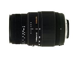 Sigma 70-300mm F4-5.6 Dg Macro Motorized Telephoto Zoom Lens For Nikon Digital Slr Cameras